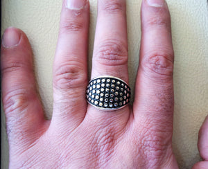 celtic style heavy sterling silver 925 heavy man ornament man ring shape any size illusion dots style high quality jewelry