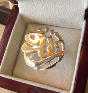 arabic calligraphy customized name sterling silver 925 high quality polishing ring fit all sizes any name خاتم اسماء عربي