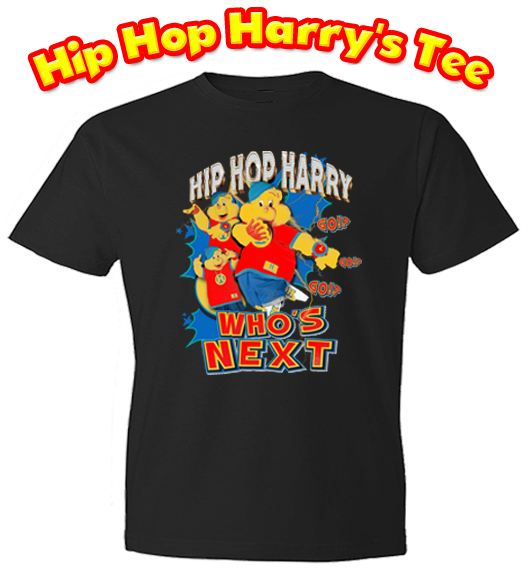 Hip Hop Harry limited edition Who's Next black t-shirt.