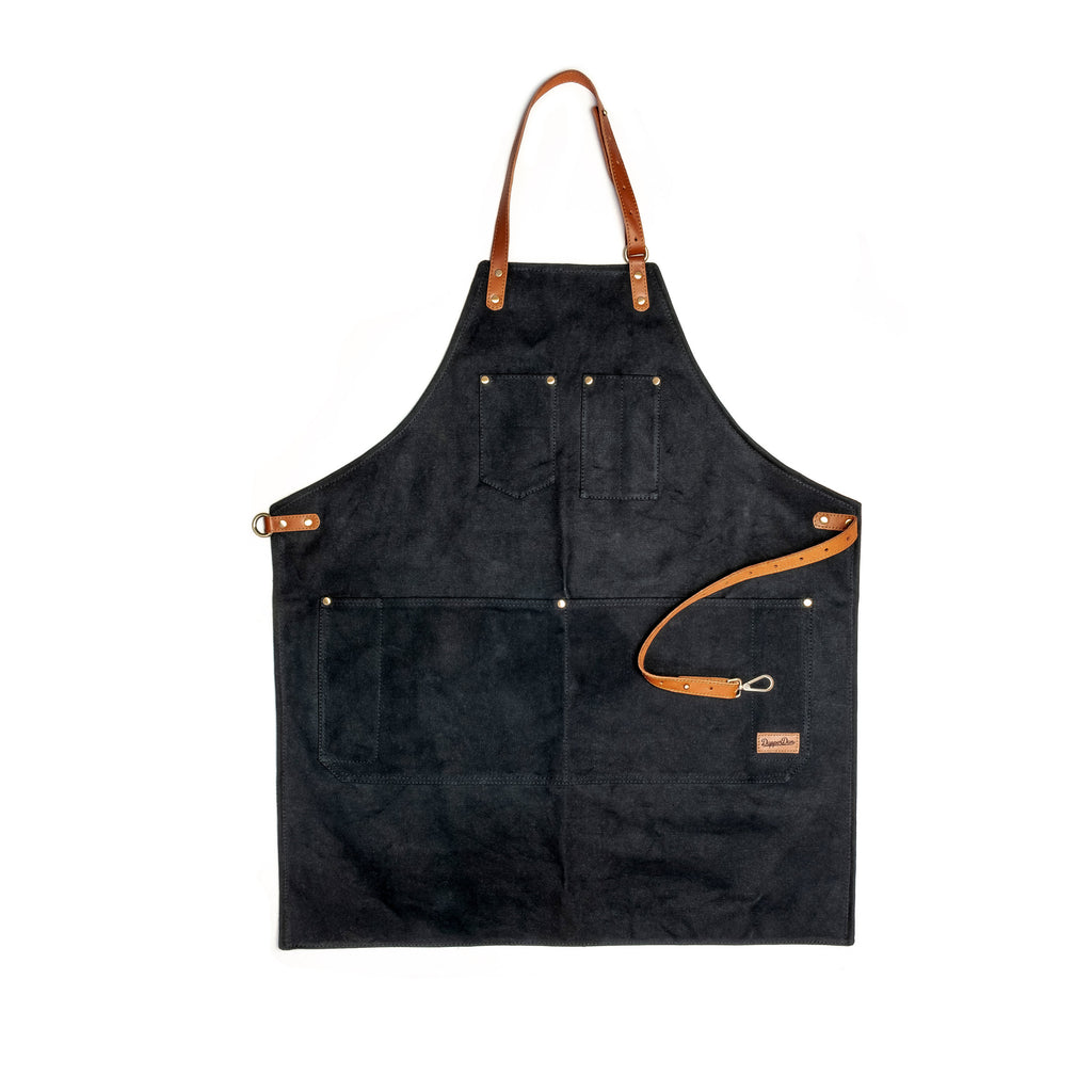 Washed Black Apron
