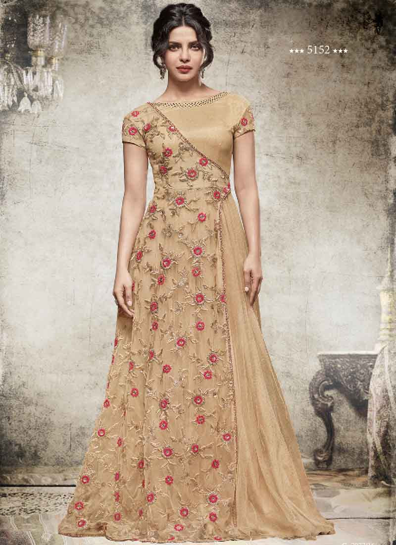Pink And Cream Indowestern Dress New India Fashion