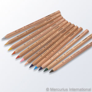 Lyra Colour Giant Pencils Unlacquered 12 assorted with Gold And Silver - St Kilda Art Supplies and Canvas Stretching - Prahran