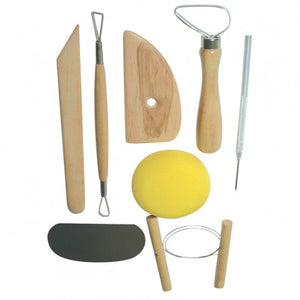 Pottery Tool Kit 8 Piece - St Kilda Art Supplies and Canvas Stretching - Prahran