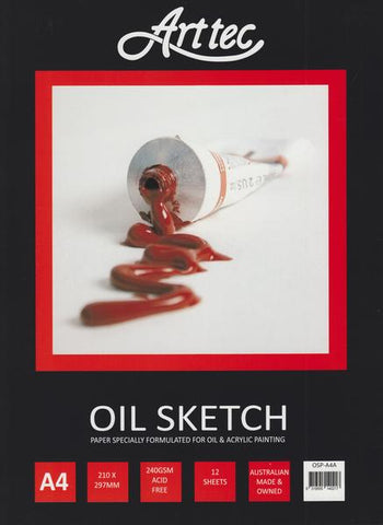 Oil & Acrylic Painting Sketch Pad - St Kilda Art Supplies and Canvas Stretching - Prahran