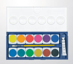 Nerchau (formerly Lyra) Opaque Watercolour Paint Colours Set of 12