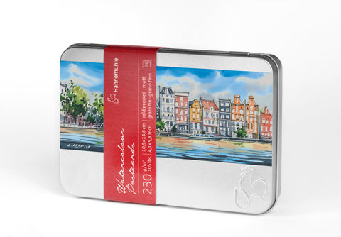 Hahnemuhle Postcard Tin of Cold pressed Watercolor