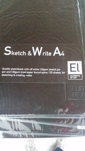 Sketch & Write Elements of Art Soft Covered - St Kilda Art Supplies and Canvas Stretching - Prahran