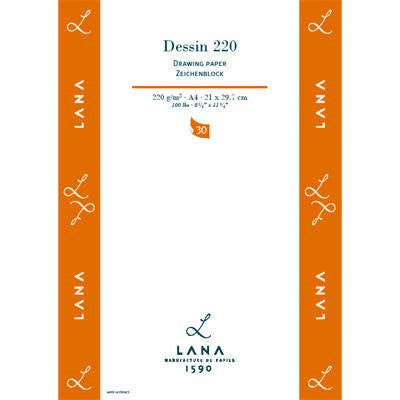 Lana Hahnemuhle Dessin Drawing Pad 220gsm - St Kilda Art Supplies and Canvas Stretching - Prahran