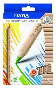 Lyra Colour Giant Pencils Unlacquered Set