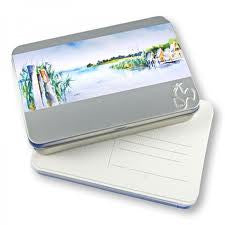 Hahnemuhle Watercolour Postcard Tin of 30 - St Kilda Art Supplies and Canvas Stretching - Prahran