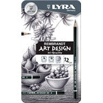 Lyra Rembrandt Art Design Graphite Pencil Box of 12 - St Kilda Art Supplies and Canvas Stretching - Prahran
