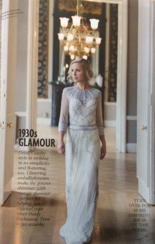 Celeste Gown by Vicky Rowe in Exclusive Magazine