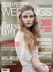 Vicky Rowe Bohemian style Evelyn Wedding Gown in Social and Personal Weddings Magazine