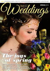 Spring 2016 Cover of West Wedding Magazine