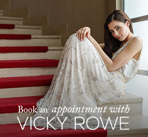 Book your wedding dress consultation with Vicky Rowe today