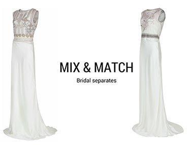 Mix and match bridal separates