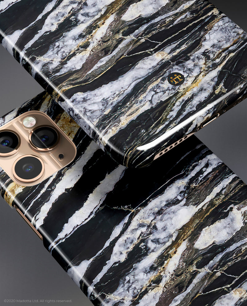 Black and Gold Marble iPhone Case
