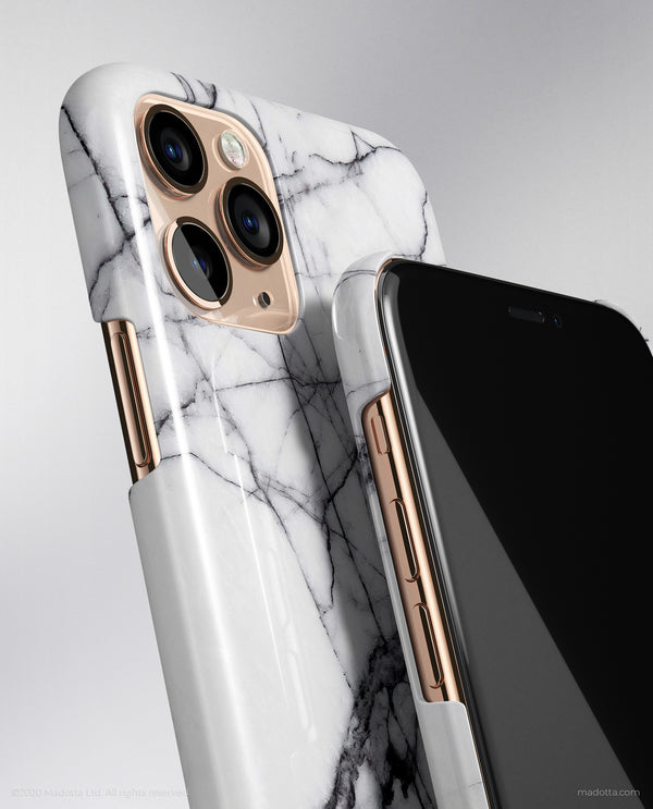 Cracked White Marble iPhone Case