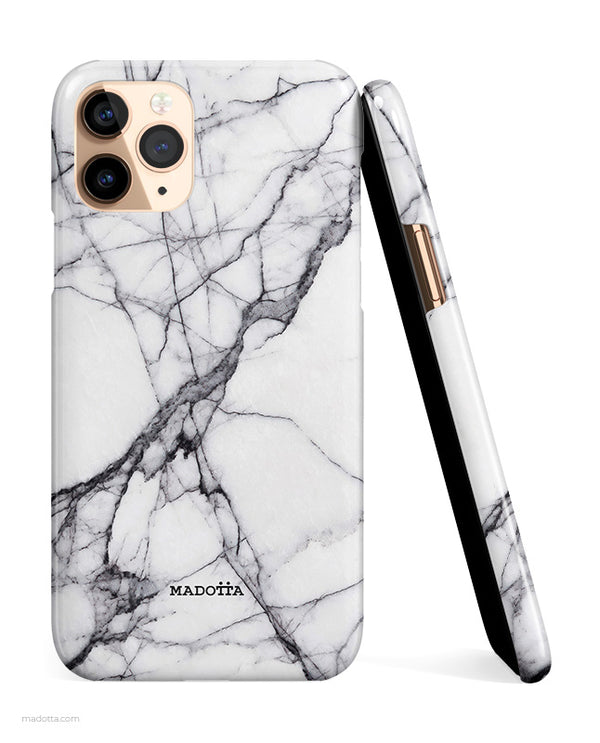 Cracked White Marble iPhone Case hide
