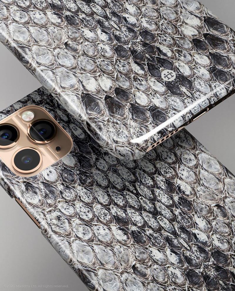 Grey Python Snakeskin iPhone Case