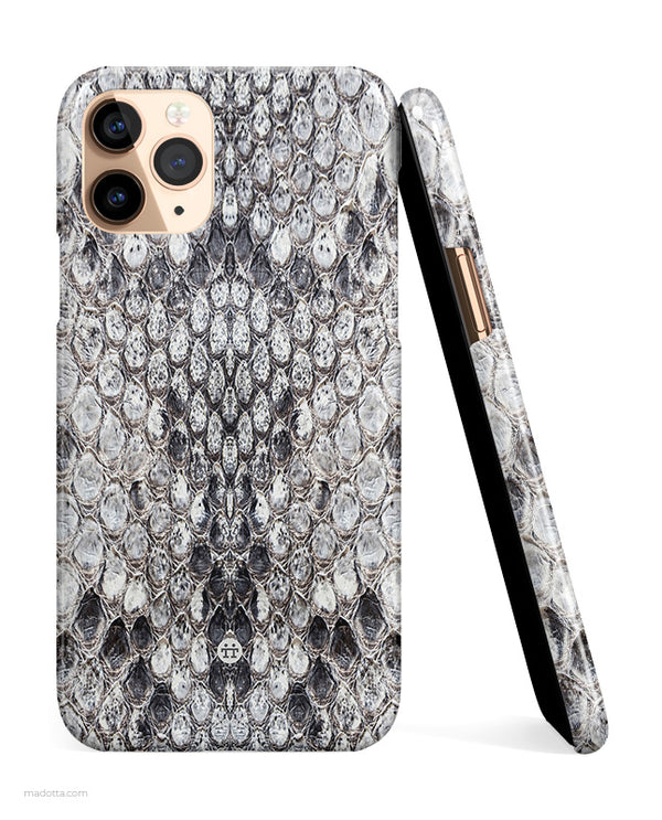Grey Python Snakeskin iPhone Case hide