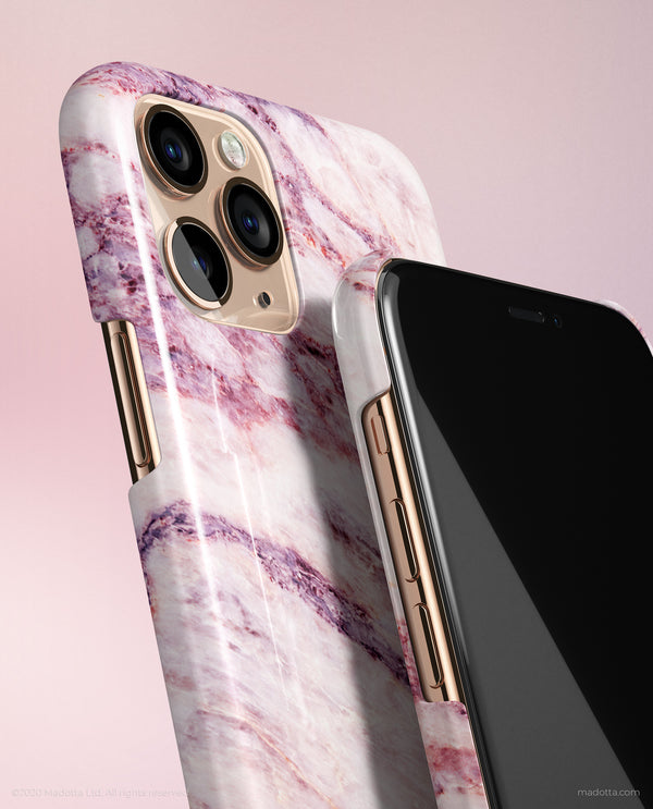Pink Galaxy Marble iPhone Case