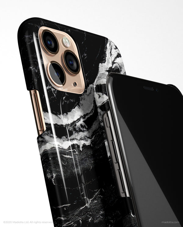 Black Storm Marble iPhone Case