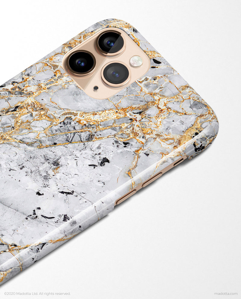 Golden Dragon Marble iPhone Case