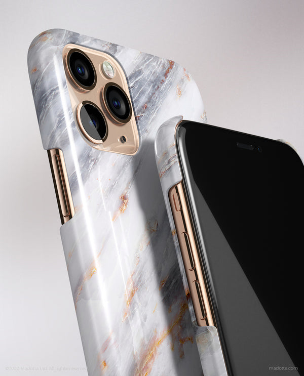 Silver Storm Marble iPhone Case