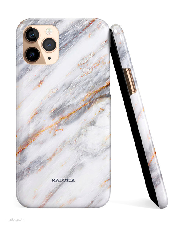Silver Storm Marble iPhone Case hide