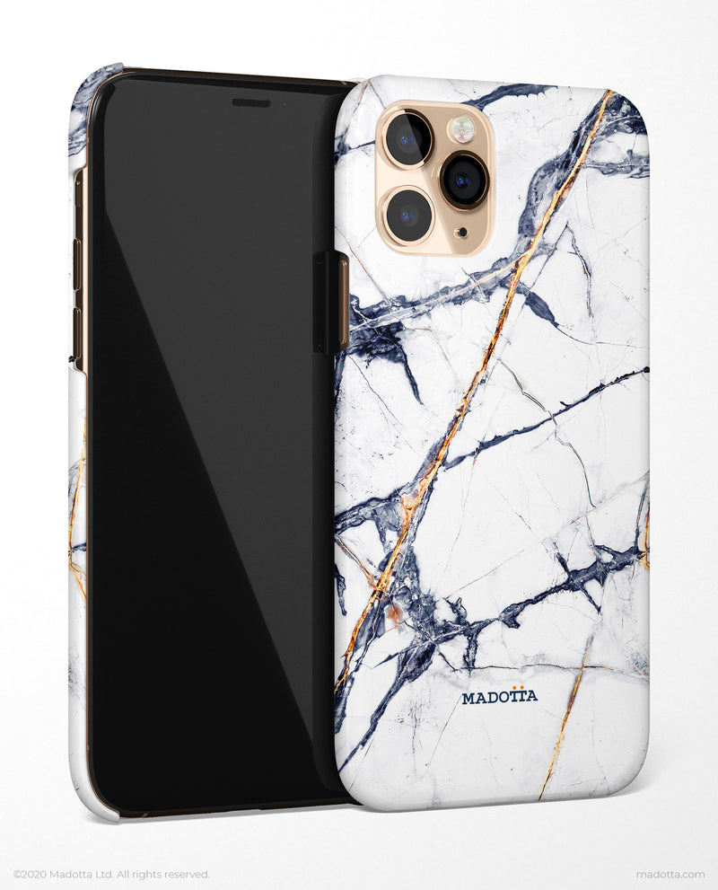 Golden Ice Marble iPhone Case