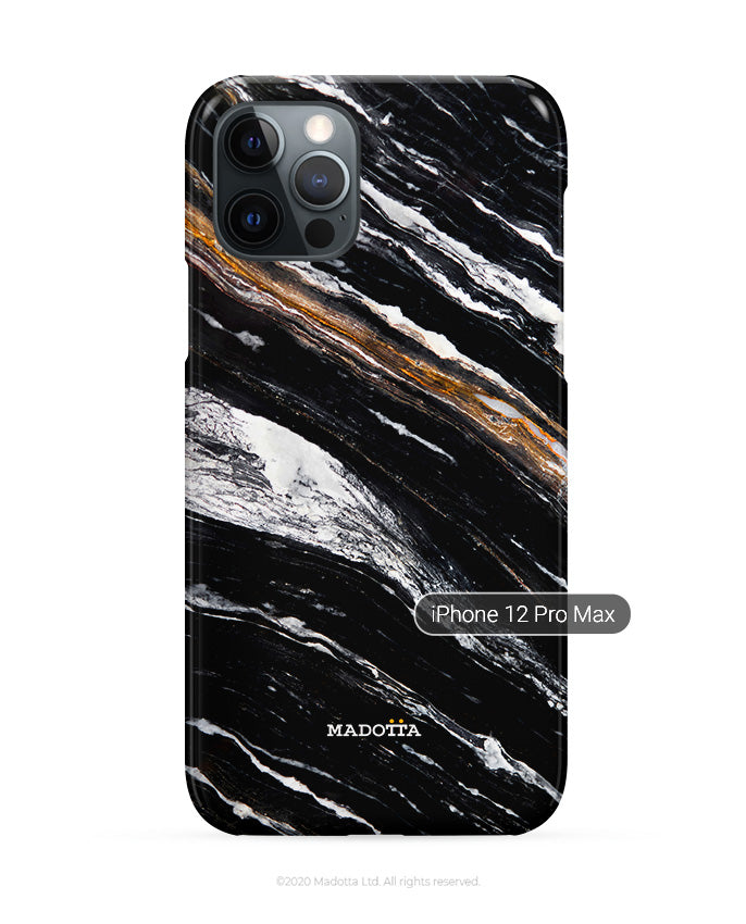 Mystery Black Marble iPhone Case
