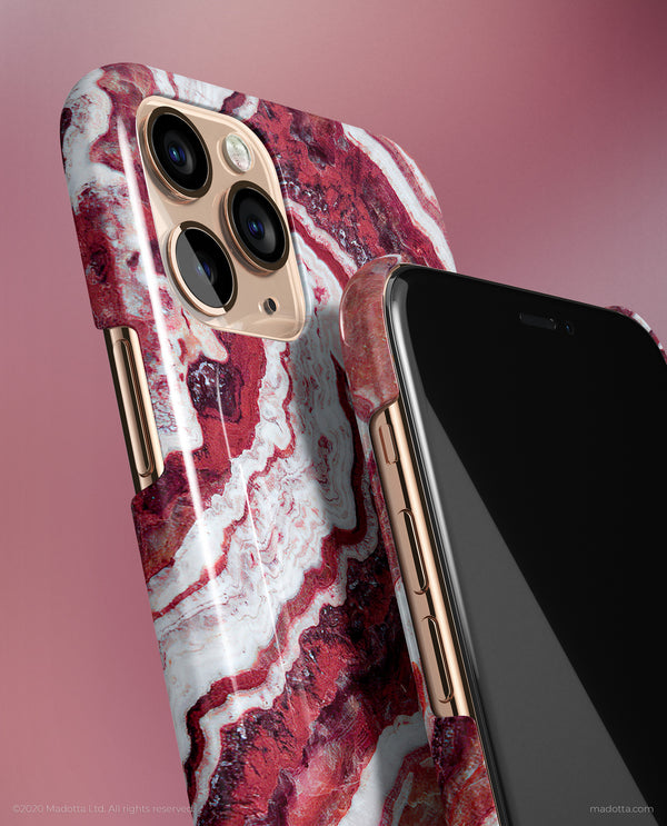 Ruby Onyx Marble iPhone Case