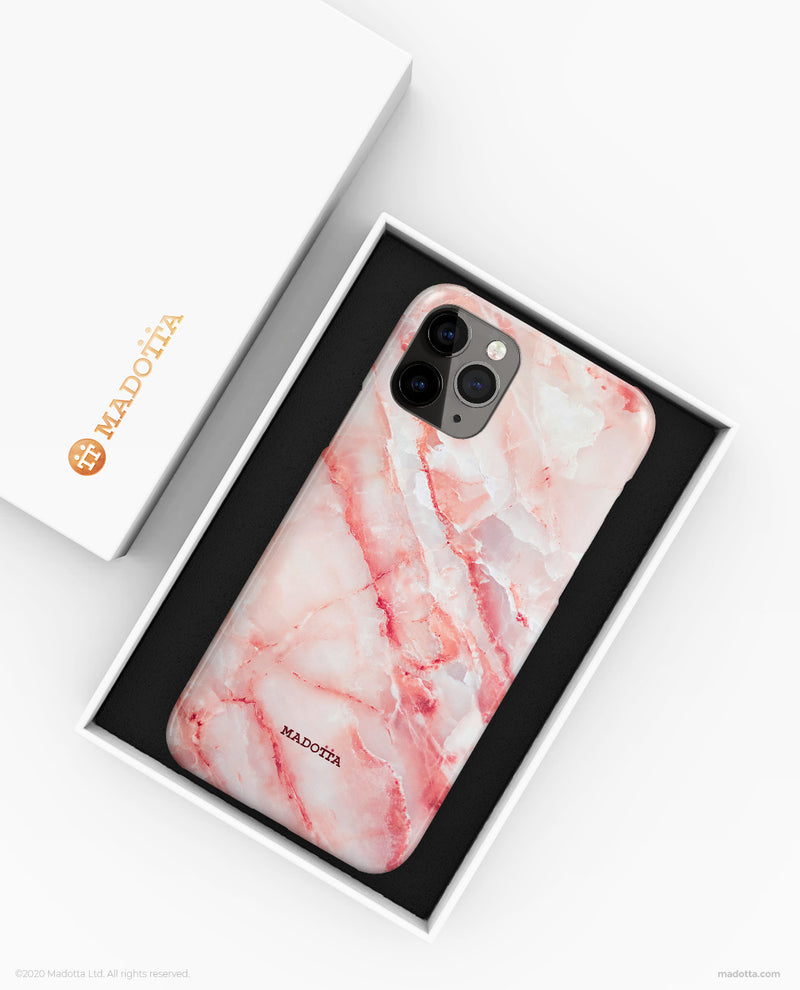 Bright Pink Marble iPhone Case