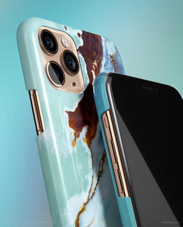 Blue Ocean Marble iPhone Case