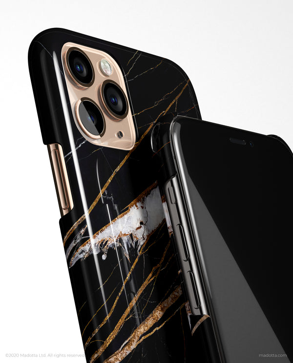 Gold Marquina Marble iPhone Case