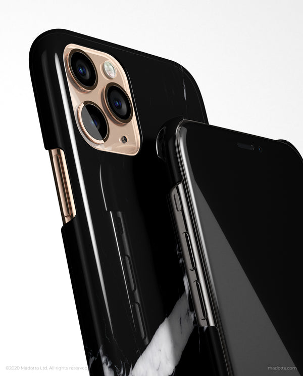 Minimal Black Marble iPhone Case