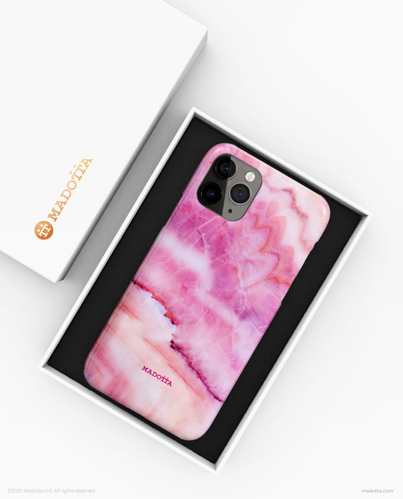 Pink Pearl Marble iPhone Case