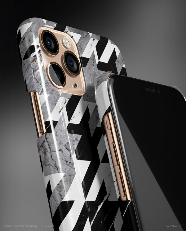 Houndstooth x Marble iPhone Case