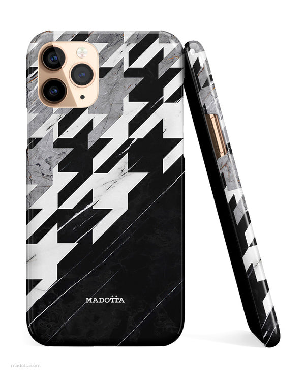 Houndstooth x Marble iPhone Case hide
