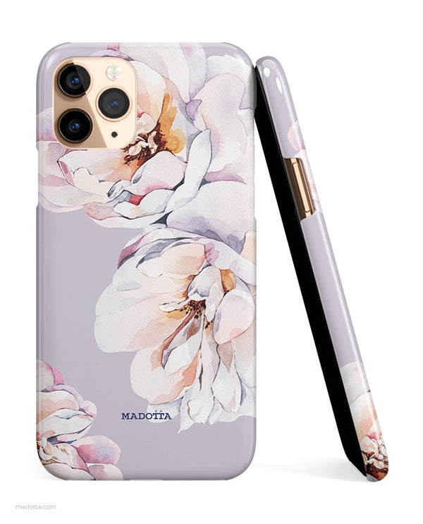 White Majolica Roses iPhone Case hide