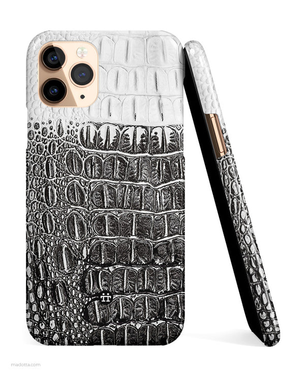 Black and White Crocodile iPhone Case hide
