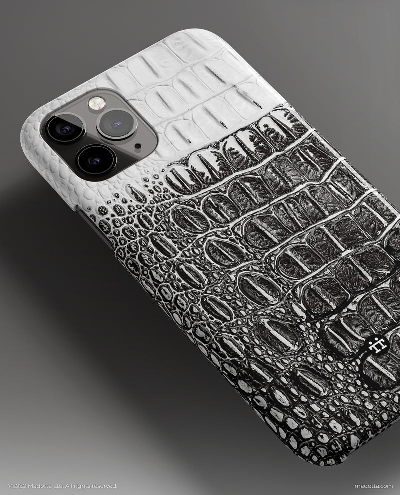 Black and White Crocodile iPhone Case