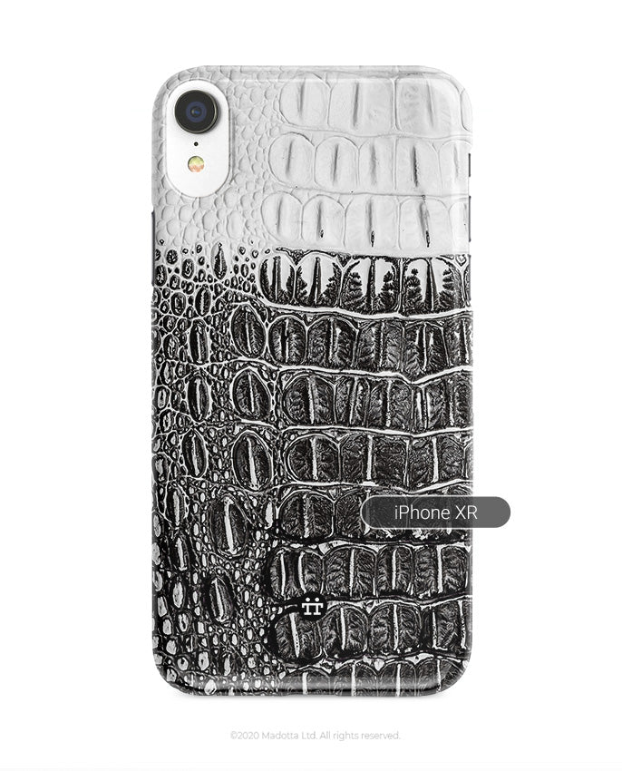 Black and White Crocodile iPhone XR Case