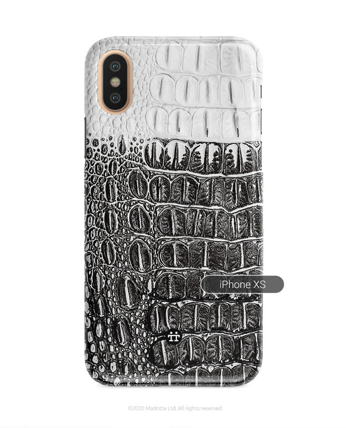 Black and White Crocodile iPhone XS Case