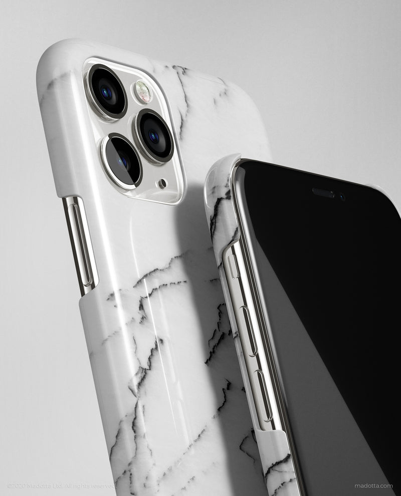 Minimal White Marble iPhone Case