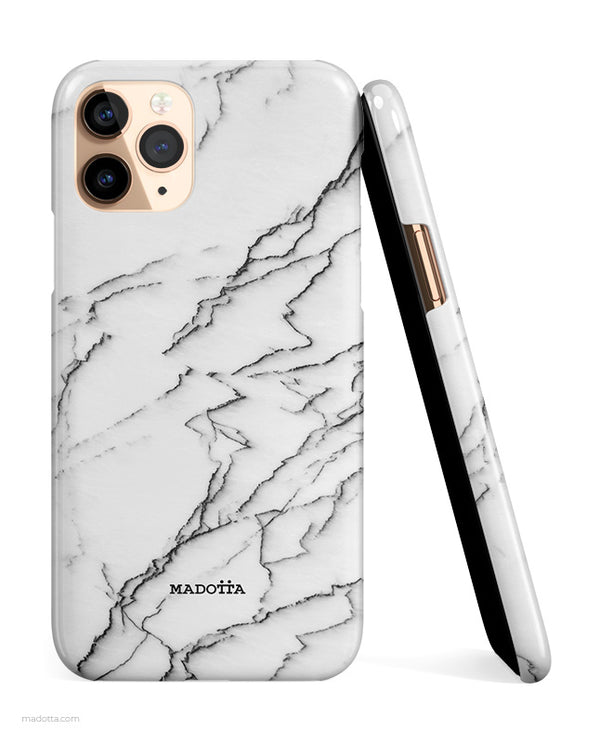 Minimal White Marble iPhone Case hide