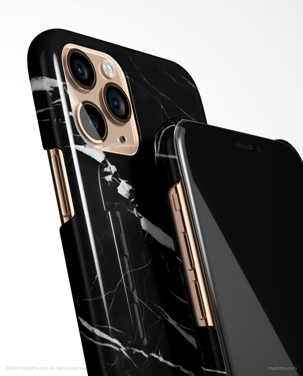 Black Strike Marble iPhone Case