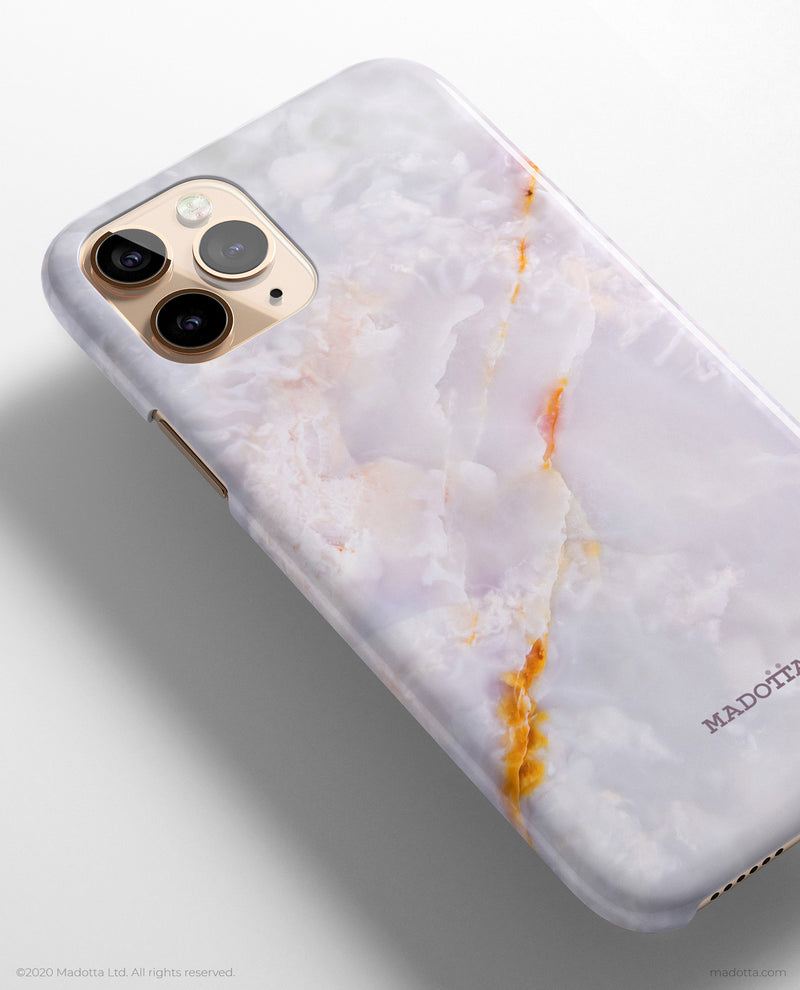 White Galaxy Marble iPhone Case