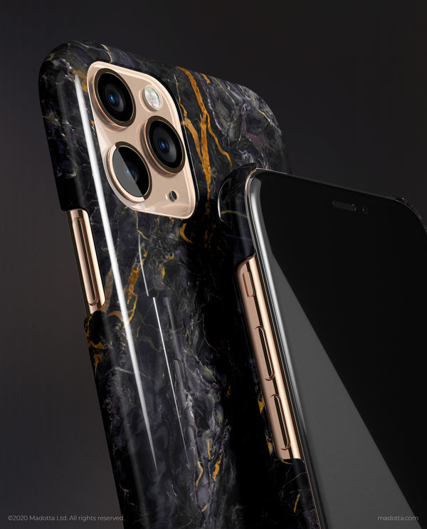 Golden Strike Marble iPhone Case